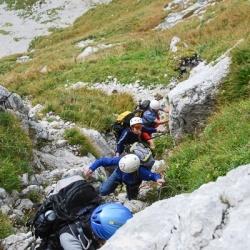 Dolomiten von Friaul: Gesicherter Steig am Monte Cavallo